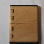 Maple and ebony business card case